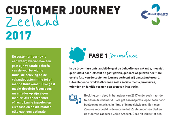 Leaflet Customer Journey Zeeland 2017